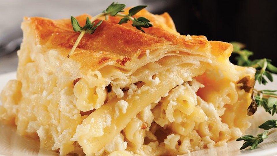 En kolay, en lezzetli fırında yufkalı makarna böreği tarifi...
