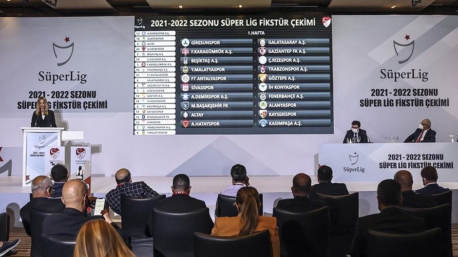 Süper Lig 2021-2022 sezonu fikstürü belli oldu...