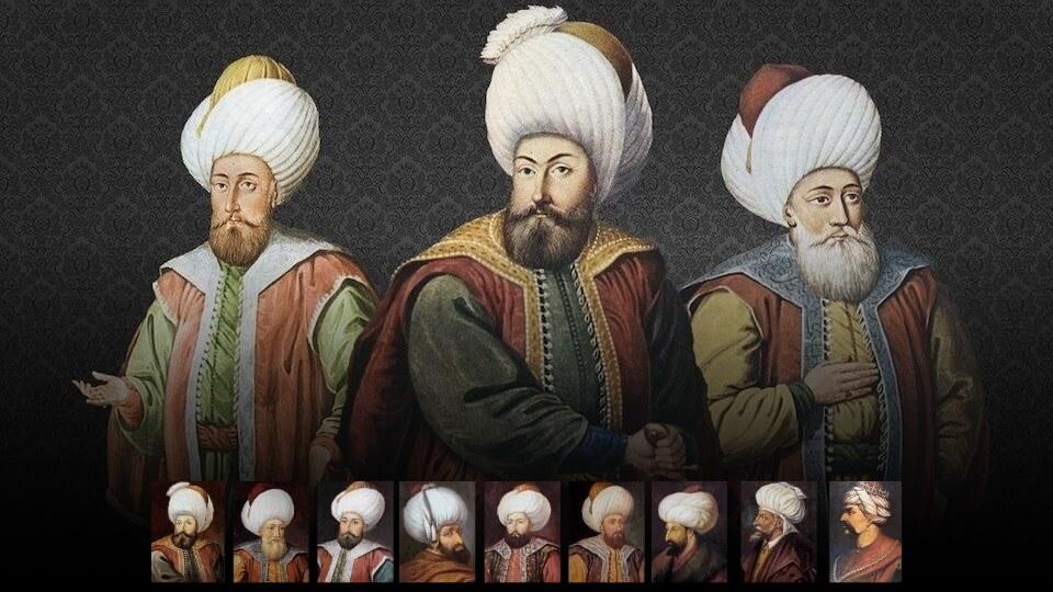 Osmanlı İmparatorluğu'nun kuruluşundan yıkılışına tüm padişahları
