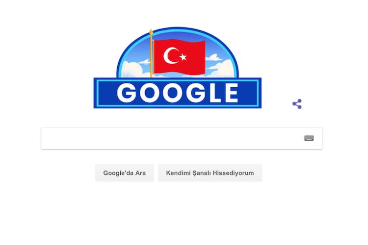 Google'dan 29 Ekim Cumhuriyet Bayramı'na özel logo